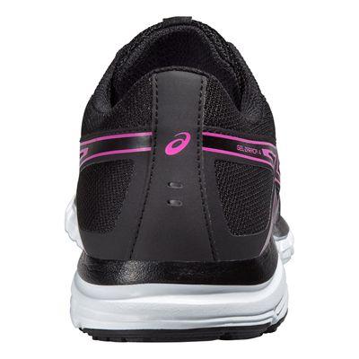 Asics Gel-Zaraca 4 Ladies Running Shoes-Black-Grey-Pink Back View