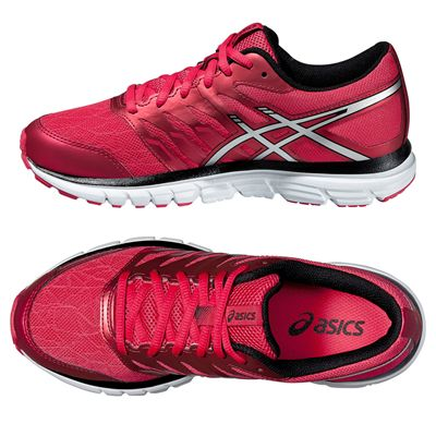 Asics Gel-Zaraca 4 Ladies Running Shoes-Pink-Silver-Black-Alternative View