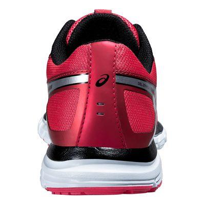 Asics Gel-Zaraca 4 Ladies Running Shoes-Pink-Silver-Black-Back View