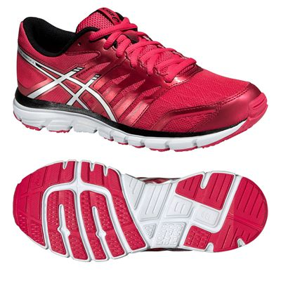 Asics Gel-Zaraca 4 Ladies Running Shoes-Pink-Silver-Black