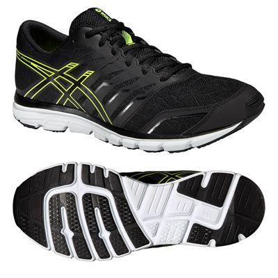 Asics Gel-Zaraca 4 Mens Running Shoes-Black-Grey-Yellow