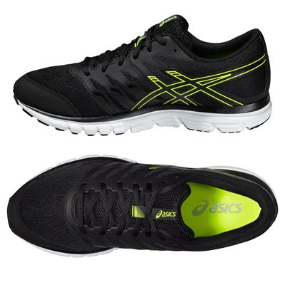 Asics Gel-Zaraca 4 Mens Running Shoes-Black-Grey-Yellow Alternative View