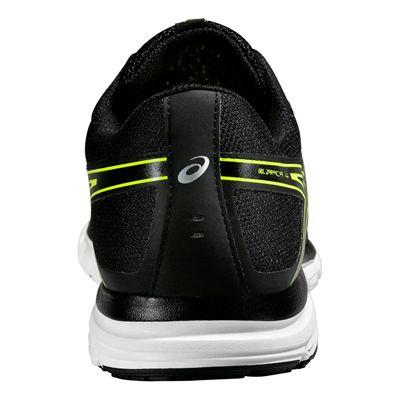 Asics Gel-Zaraca 4 Mens Running Shoes-Black-Grey-Yellow BAck View