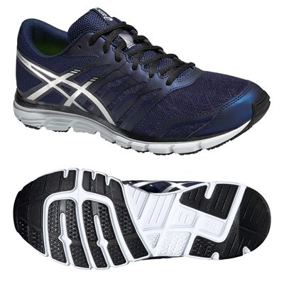 Asics Gel-Zaraca 4 Mens Running Shoes-Blue-Silver-Black