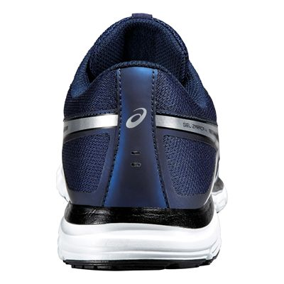Asics Gel-Zaraca 4 Mens Running Shoes-Blue-Silver-Black Back View