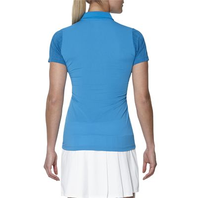 Asics GPX SS Ladies Tennis Polo-blue-back2
