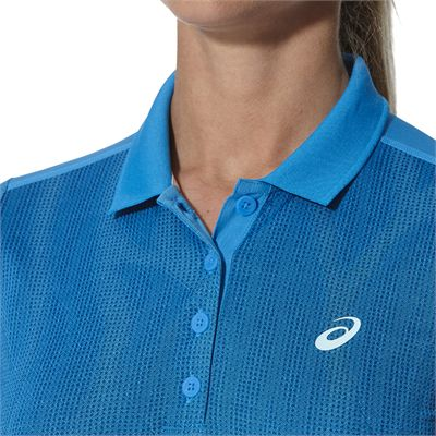 Asics GPX SS Ladies Tennis Polo-blue-close