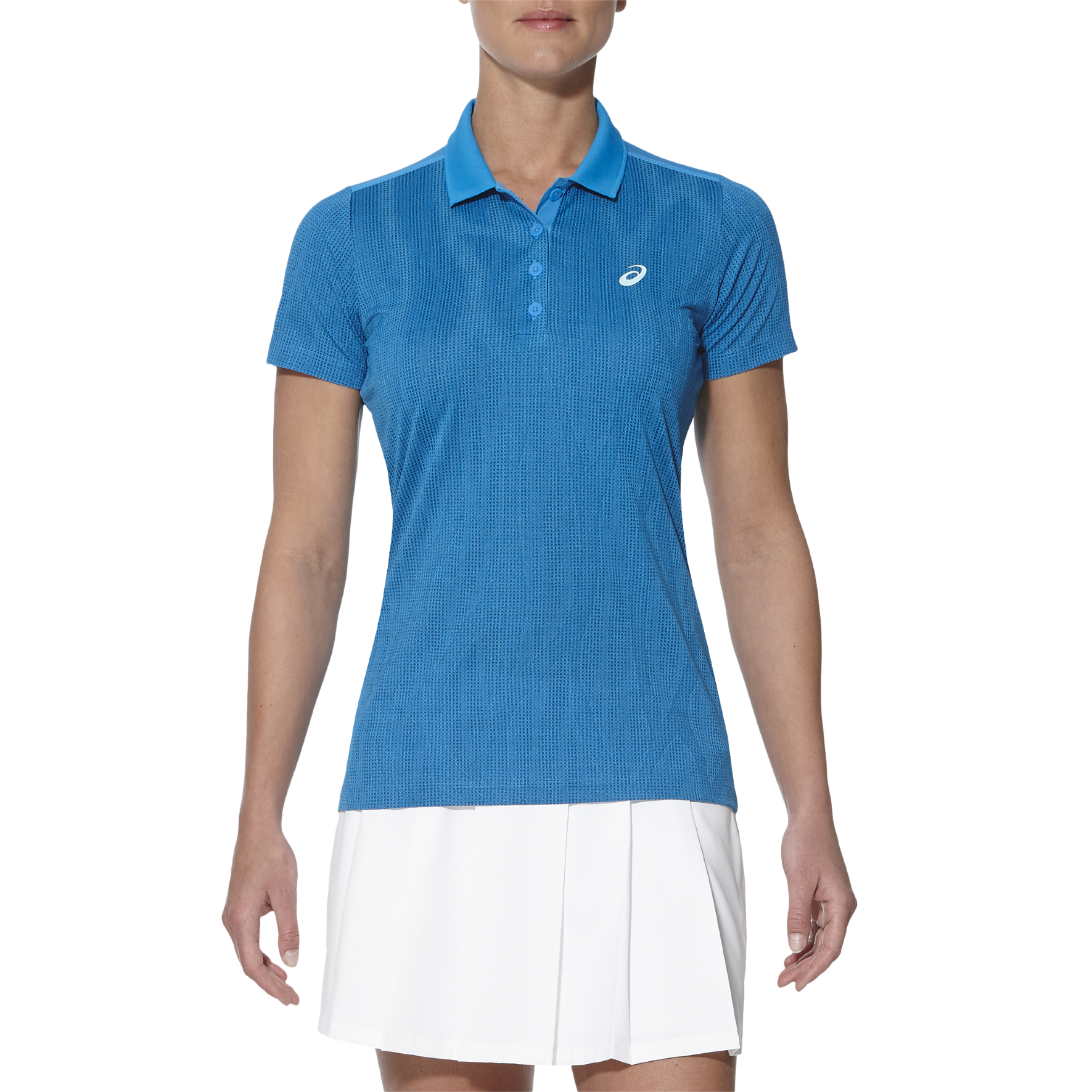 Asics GPX SS Ladies Tennis Polo - Blue, XL