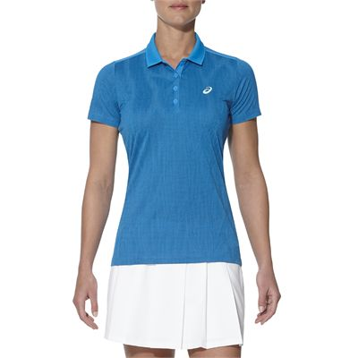 Asics GPX SS Ladies Tennis Polo-blue-main