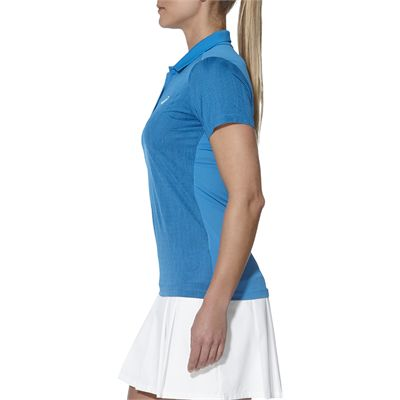 Asics GPX SS Ladies Tennis Polo-blue-side