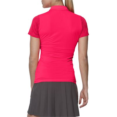 Asics GPX SS Ladies Tennis Polo-pink-back