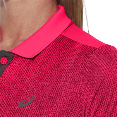 Asics GPX SS Ladies Tennis Polo-pink-close
