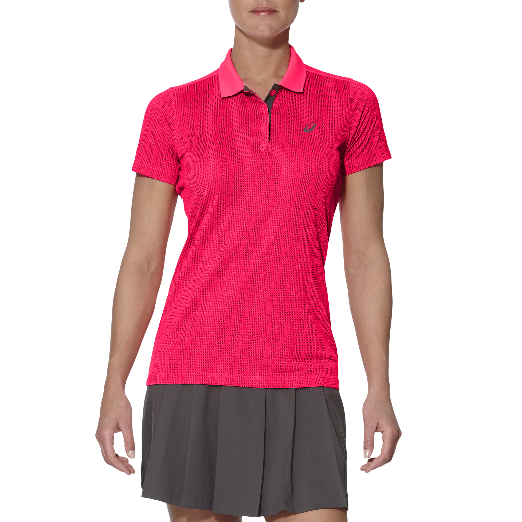 Asics GPX SS Ladies Tennis Polo - Pink, L