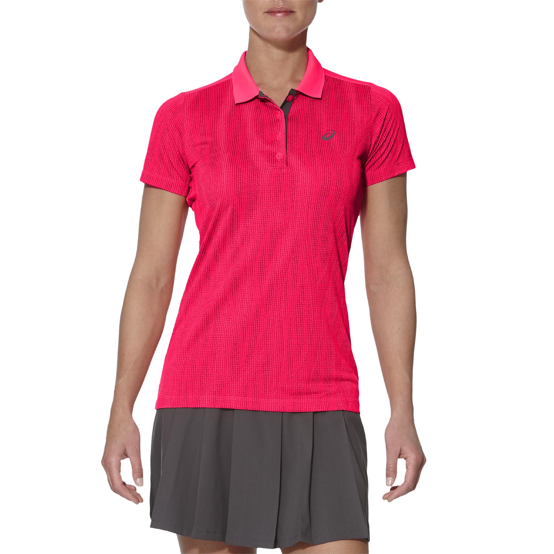 Asics GPX SS Ladies Tennis Polo - Pink, S