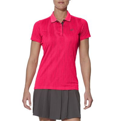 Asics GPX SS Ladies Tennis Polo-pink-main