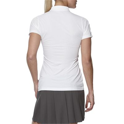 Asics GPX SS Ladies Tennis Polo-white-back