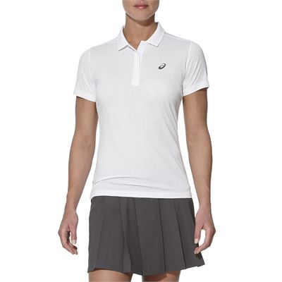 Asics GPX SS Ladies Tennis Polo-white-main