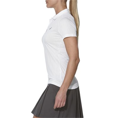Asics GPX SS Ladies Tennis Polo-white-side