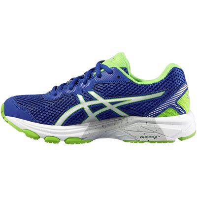 Asics GT-1000 5 GS Junior Running Shoes-Blue-Lime-Medial