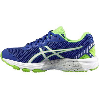 Asics GT-1000 5 GS Junior Running Shoes-Blue-Lime-Medial
