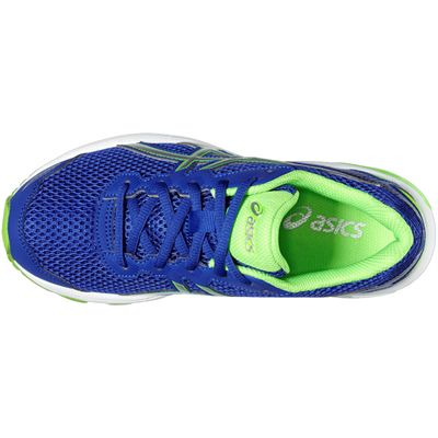 Asics GT-1000 5 GS Junior Running Shoes-Blue-Lime-Top