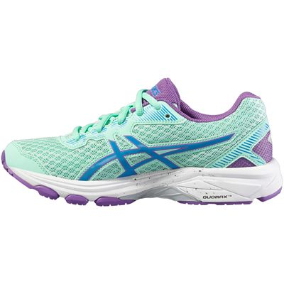 Asics GT-1000 5 GS Junior Running Shoes-Mint-Medial
