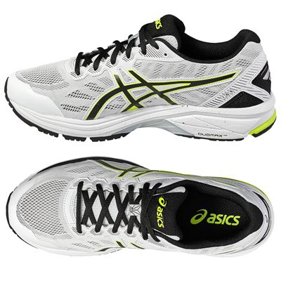 Asics GT-1000 5 Mens Running Shoes - White/Lime - Top,Side