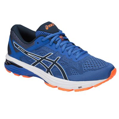 Asics GT-1000 6 Mens Running Shoes SS18 - Blue - Angled