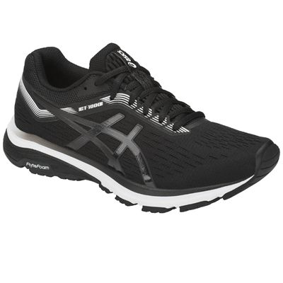 Asics GT-1000 7 Ladies Running Shoes - Black - Angled1