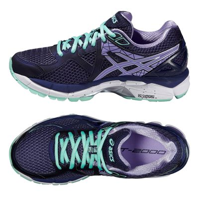 Asics GT-2000 3 Ladies Running Shoes - Purple Green - Alternative View