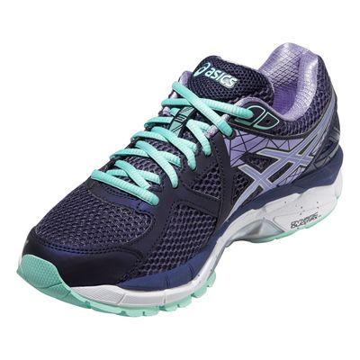 Asics GT-2000 3 Ladies Running Shoes - Purple Green - Angle View