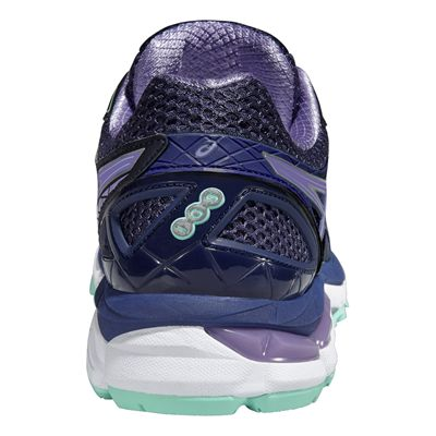 Asics GT-2000 3 Ladies Running Shoes - Purple Green - Back View