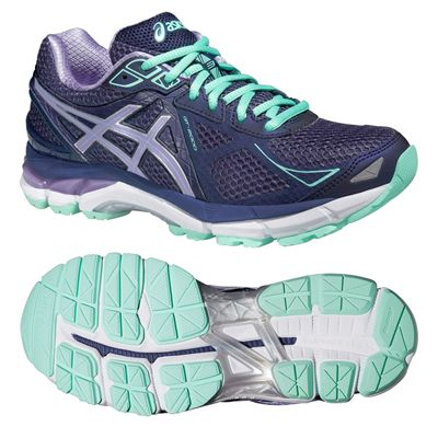 Asics GT-2000 3 Ladies Running Shoes - Purple Green