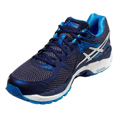 Asics GT-2000 3 Mens Running Shoes - Blue White - Angle View