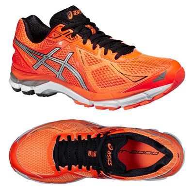 Asics GT-2000 3 Mens Running Shoes - Orange Silver Black - Alternative View