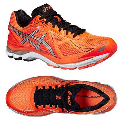 Asics GT-2000 3 Mens Running Shoes - Orange Silver Black - Alternative View