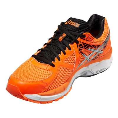 Asics GT-2000 3 Mens Running Shoes - Orange Silver Black - Angle View