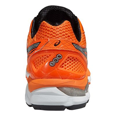 Asics GT-2000 3 Mens Running Shoes - Orange Silver Black - Back View