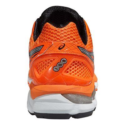 Asics GT-2000 3 Mens Running Shoes - Orange Silver Black - Back View
