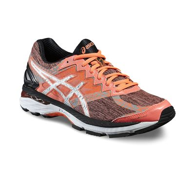 Asics GT-2000 4 Lite-Show Plasmaguard Ladies Running Shoes-Orange/Silver/Black-Angled