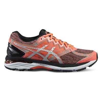 Asics GT-2000 4 Lite-Show Plasmaguard Ladies Running Shoes-Orange/Silver/Black-Side