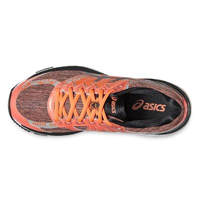 Asics GT-2000 4 Lite-Show Plasmaguard Ladies Running Shoes-Orange/Silver/Black-Top