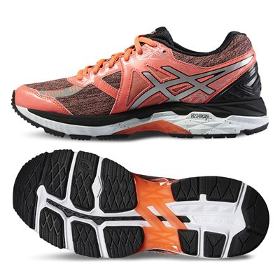 Asics GT-2000 4 Lite-Show Plasmaguard Ladies Running Shoes-Orange/Silver/Black