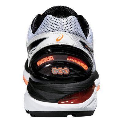 Asics GT-2000 4 Mens Running Shoes-White-Black-Orange-Back View
