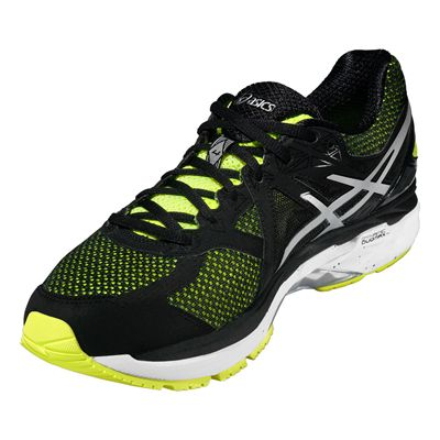 Asics GT-2000 4 Mens Running Shoes-Yellow-Black-Silver-Angle View