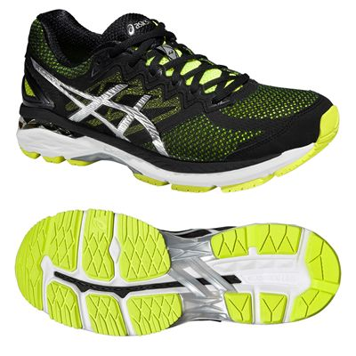 Asics GT-2000 4 Mens Running Shoes-Yellow-Black-Silver