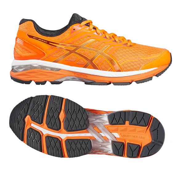 Asics GT2000 5 Mens Running Shoes  OrangeGrey 7 UK