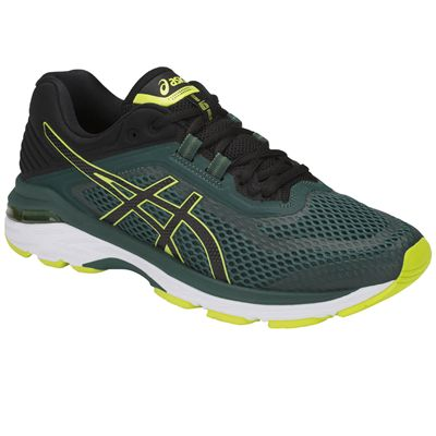Asics GT-2000 6 Mens Running Shoes AW18 - Green - Angled2
