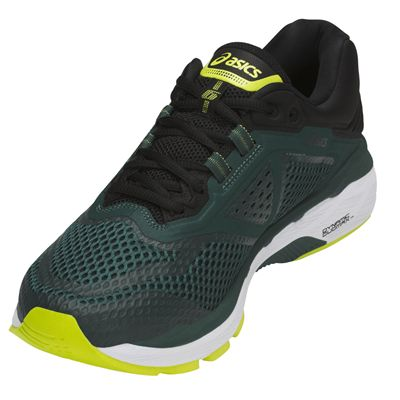 Asics GT-2000 6 Mens Running Shoes AW18 - Green - Angled