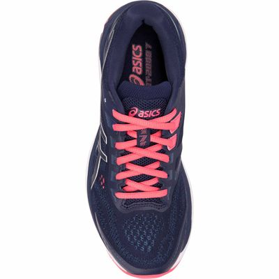 Asics GT-2000 7 Ladies Running Shoes Blue - Above